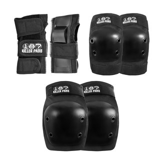 187 KILLER PADS Protection Junior Six Pack Black One Size