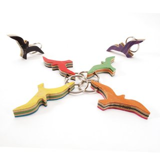 WOOD STANCE Key Chain Möwe Multicolor