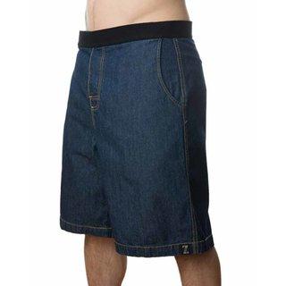 JIMMYZ Shorts EZ-In-EZ-Out Flat Front Denim Dark Blue