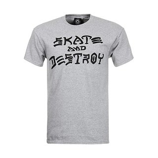 THRASHER T-Shirt-s/s Skate and Destroy Grey