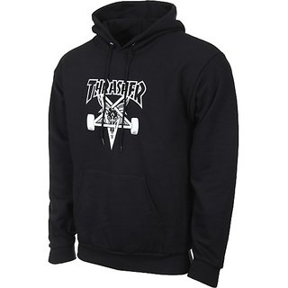 THRASHER Hooded-Sweat  Skategoat Black