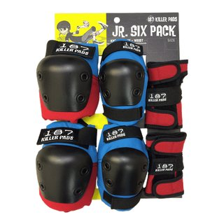 187 KILLER PADS Protection Junior Six Pack Red/Blue One Size