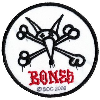 BONES RAT BONES Patch rund